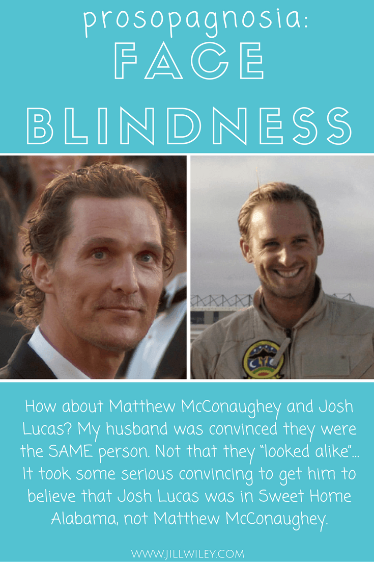 josh lucas prosopagnosia face blindness