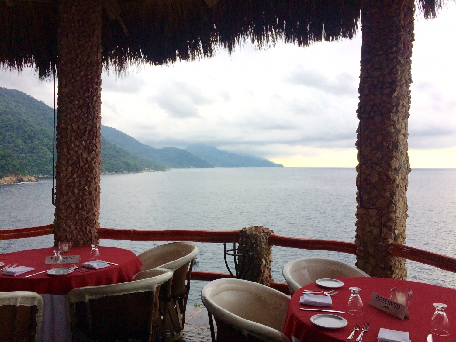 view from le cliff restaurant