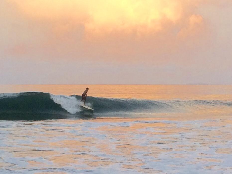 surfing sunset punta mita