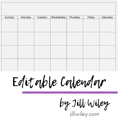editable monthly calendar jillwiley doterra